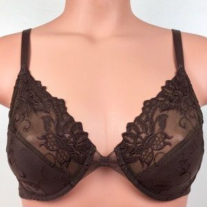 Wacoal Brown Lace Bra 36C  85174